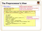 the preprocessor s view