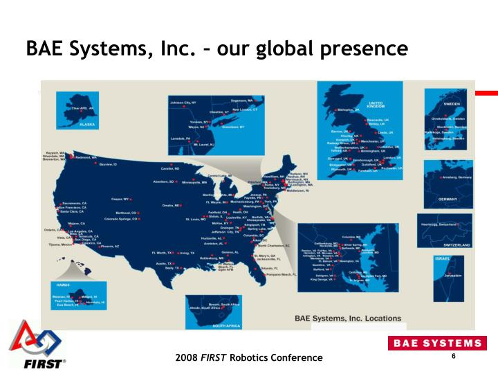 BAE Systems, Inc. – our global presence
