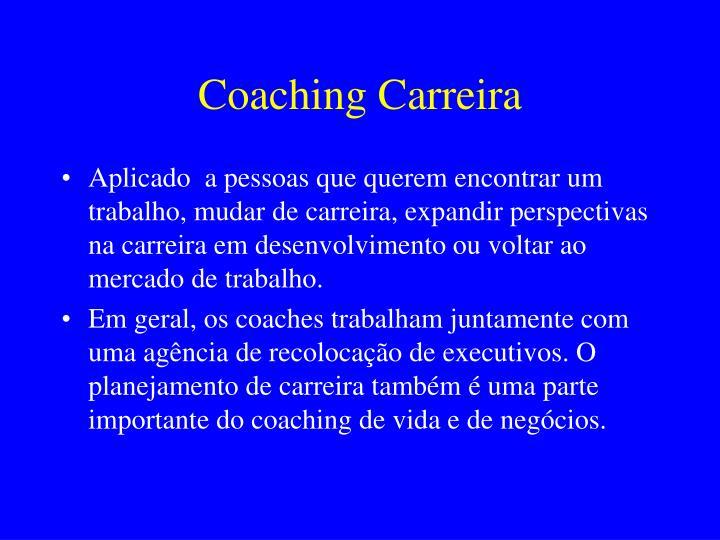 Coaching Carreira