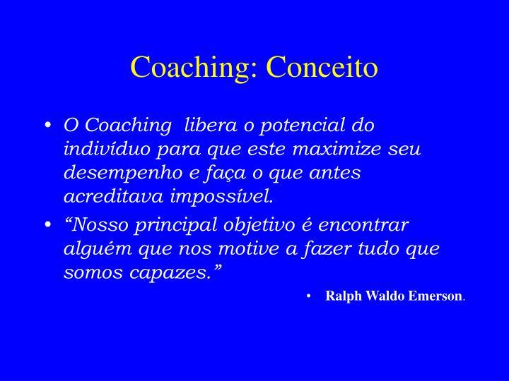 Coaching: Conceito