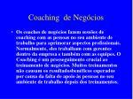 coaching de neg cios