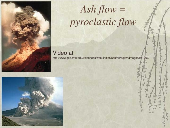 Ash flow =