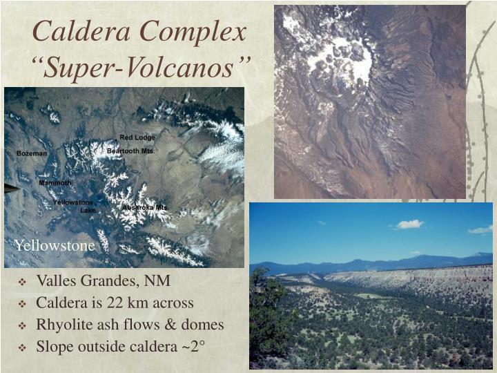 """Caldera Complex """"Super-Volcanos"""""""