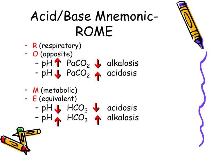 Acid/Base Mnemonic- ROME