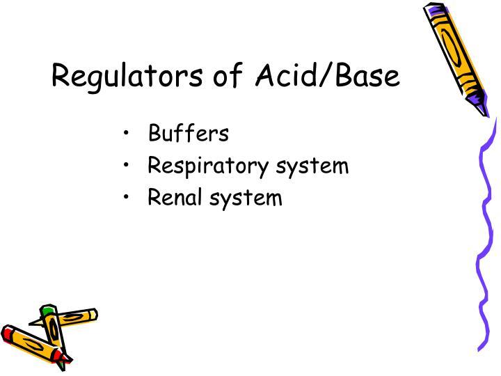 Regulators of Acid/Base