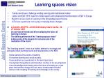 learning spaces vision