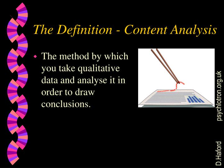 The Definition - Content Analysis