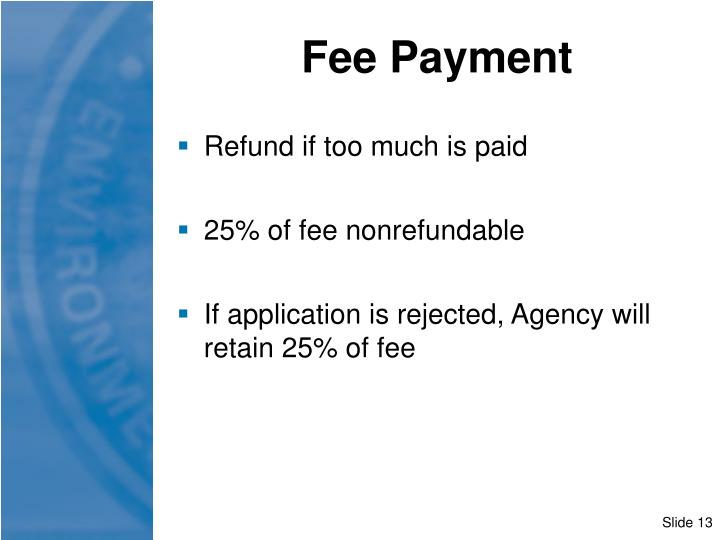 Fee Payment