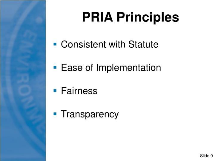 PRIA Principles