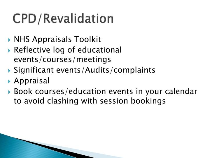 CPD/Revalidation