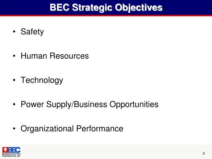 BEC Strategic Objectives