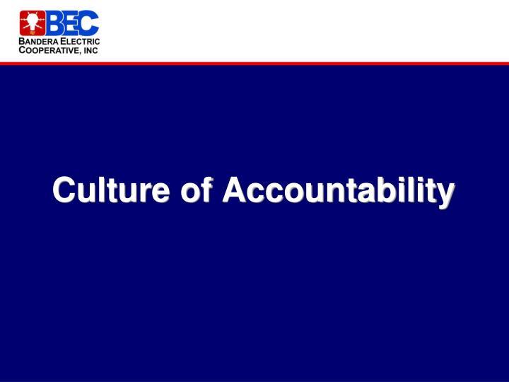 Culture of Accountability