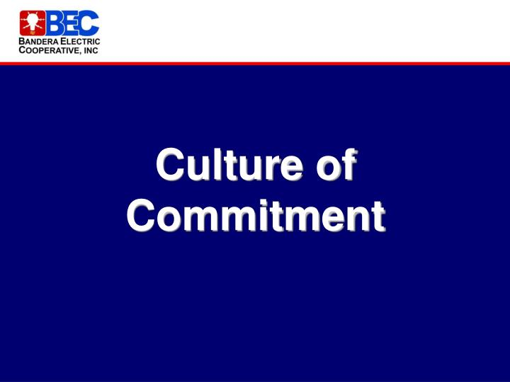 Culture of Commitment