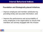 internal behavioral indices