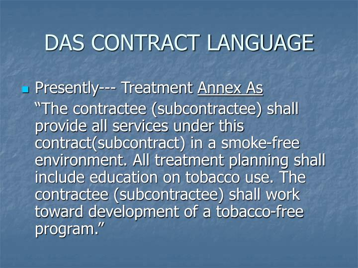 DAS CONTRACT LANGUAGE