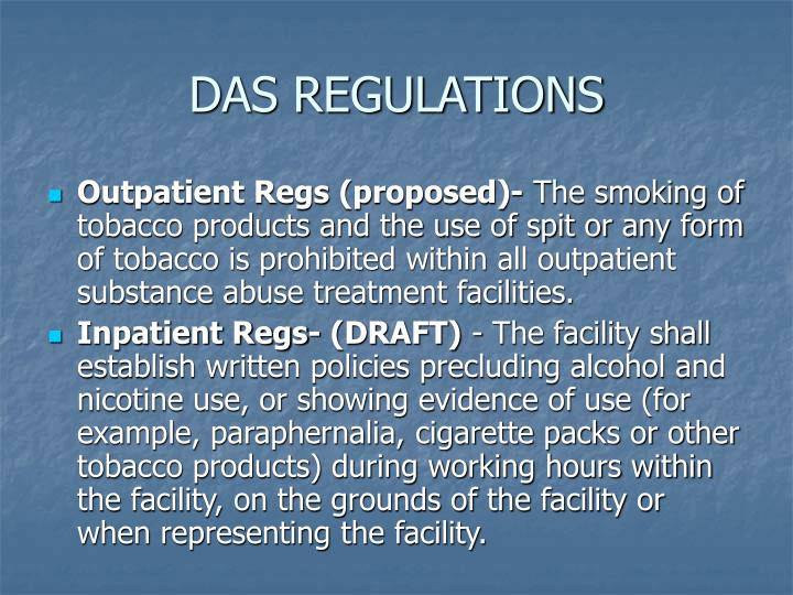 DAS REGULATIONS