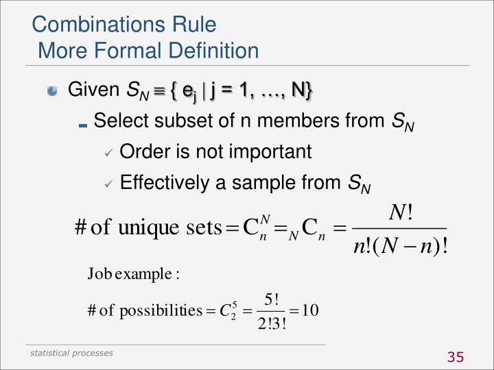 Combinations Rule