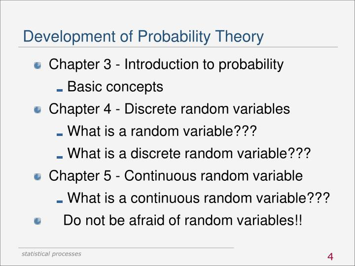 Development of Probability Theory