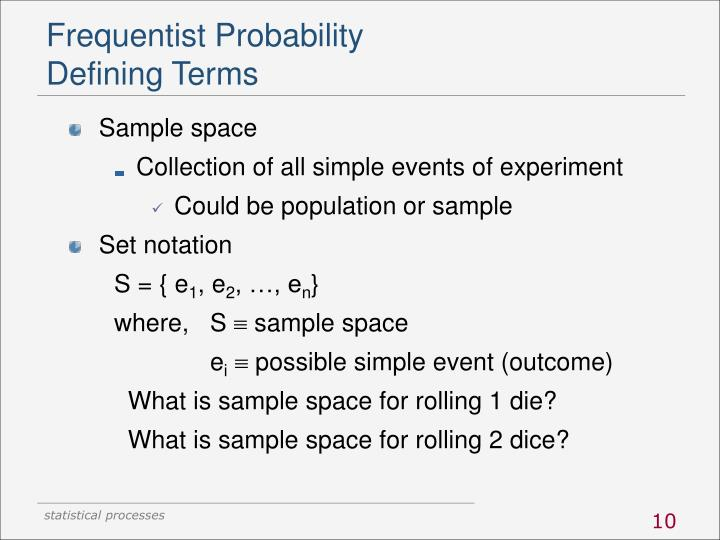 Frequentist Probability