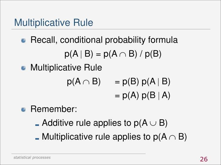 Multiplicative Rule