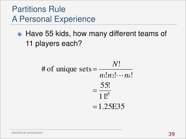 Partitions Rule
