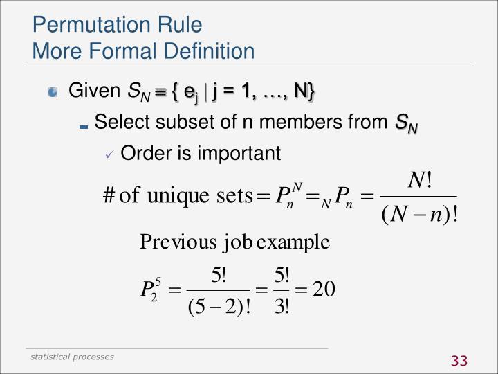 Permutation Rule