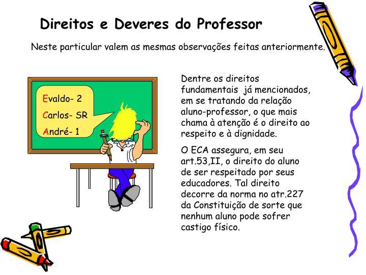 Direitos e Deveres do Professor