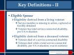 key definitions ii