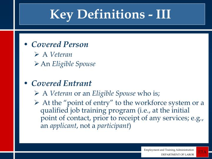 Key Definitions - III
