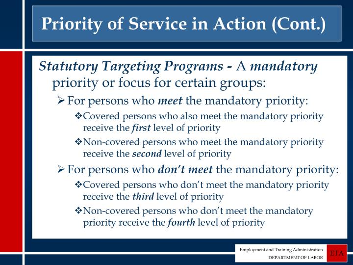Priority of Service in Action (Cont.)