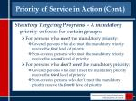 priority of service in action cont