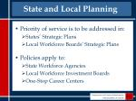 state and local planning