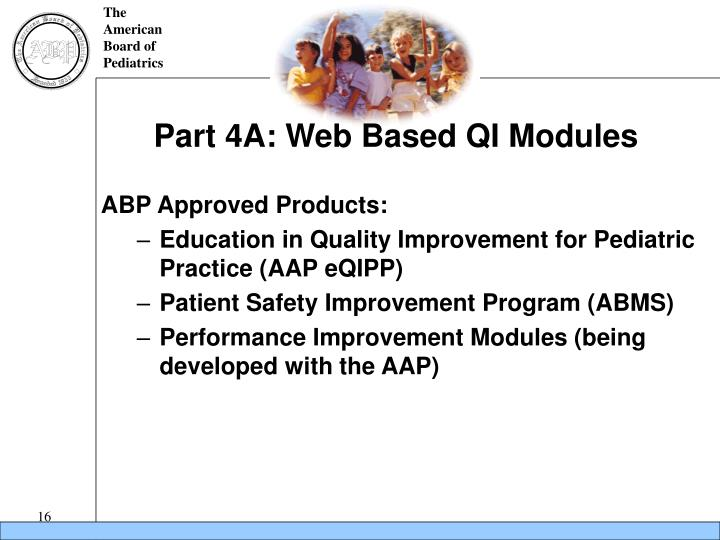 Part 4A: Web Based QI Modules
