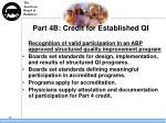 part 4b credit for established qi