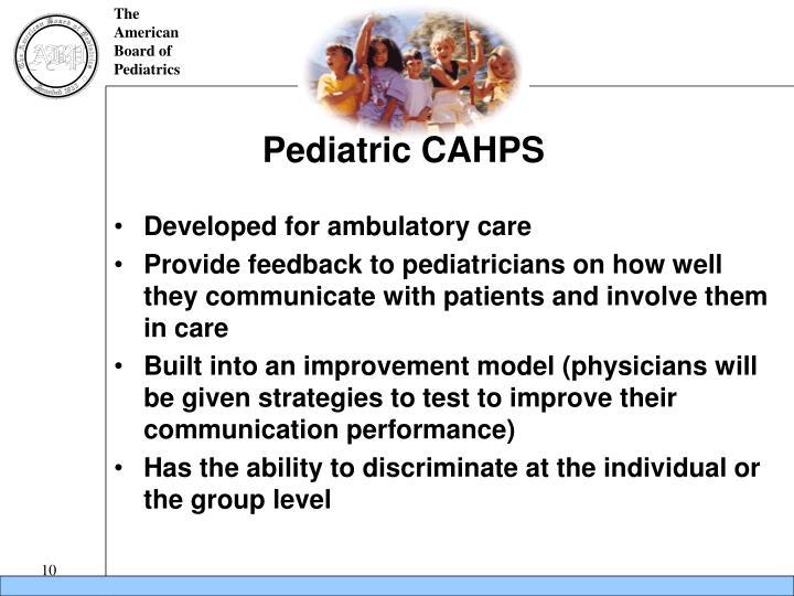 Pediatric CAHPS