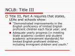 nclb title iii