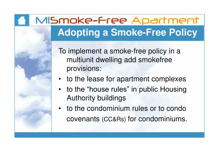 Adopting a Smoke-Free Policy