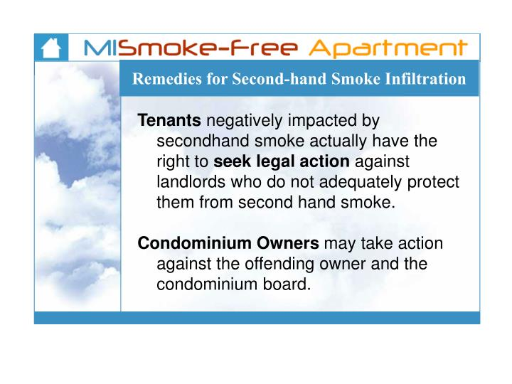 Remedies for Second-hand Smoke Infiltration