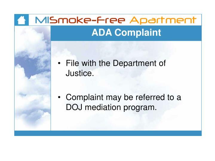 ADA Complaint