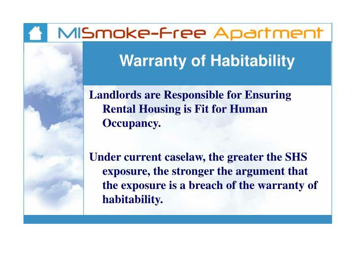 Warranty of Habitability