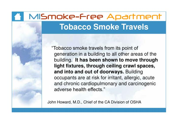 Tobacco Smoke Travels
