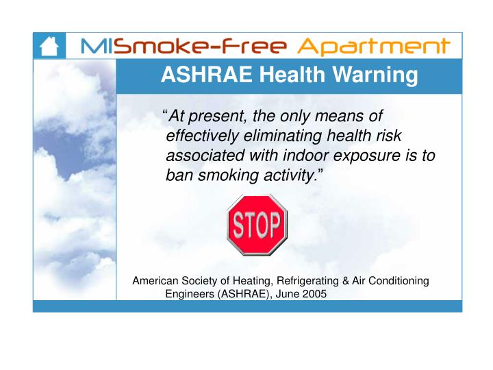 ASHRAE Health Warning