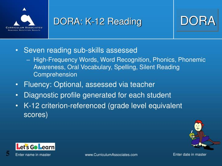 DORA: K-12 Reading