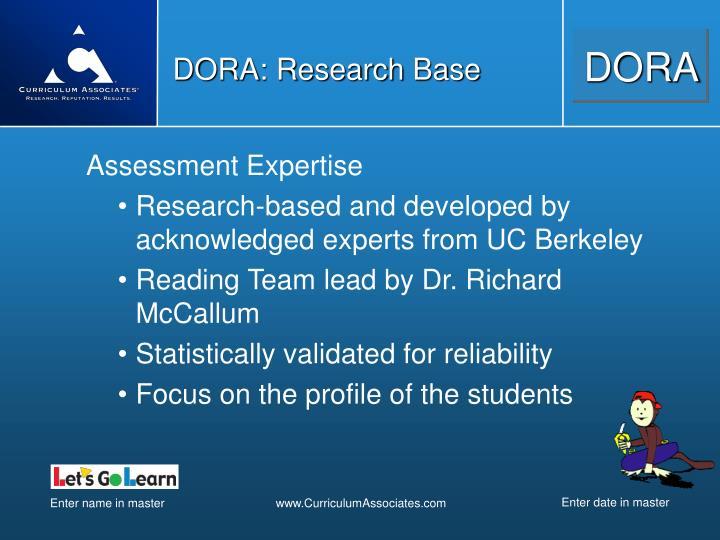 DORA: Research Base