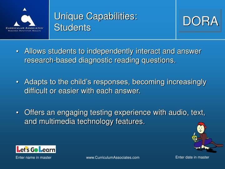 Unique Capabilities: Students