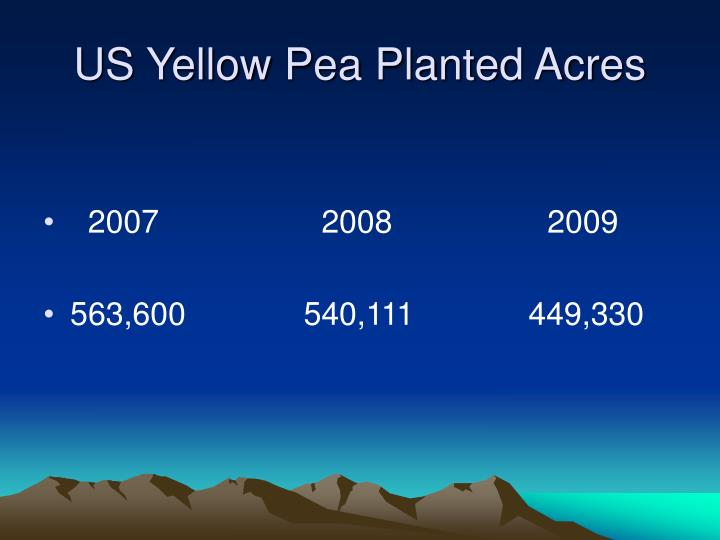 US Yellow Pea Planted Acres
