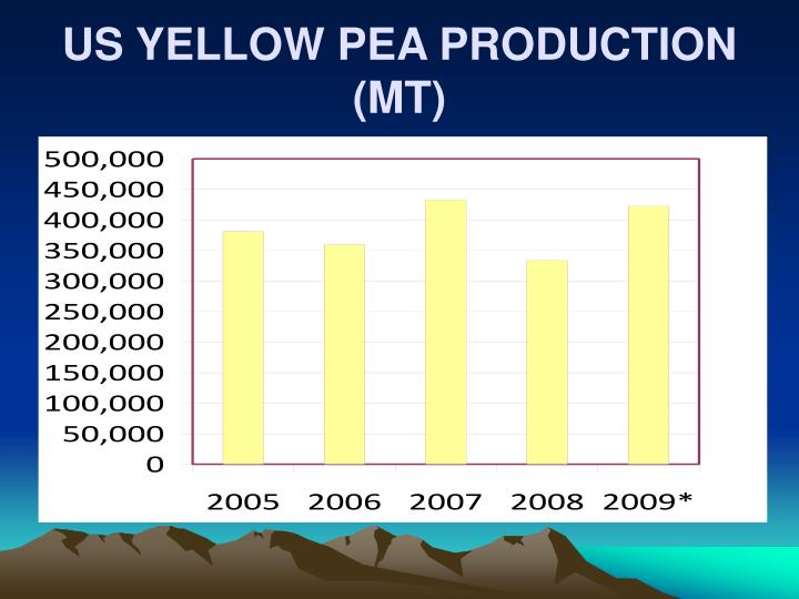 US YELLOW PEA PRODUCTION (MT)