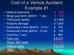 cost of a vehicle accident example 1