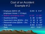 cost of an accident example 2