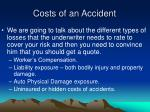 costs of an accident